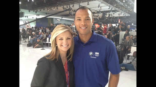 Lauren Podell and olympian Bryan Clay_7675858