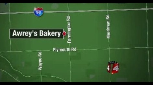Awrey's Bakery map