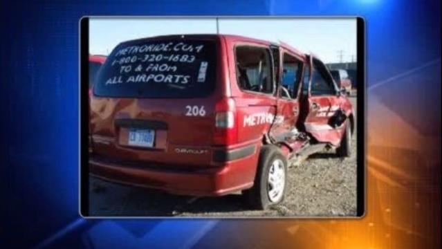 Bachelorette taxi after crash