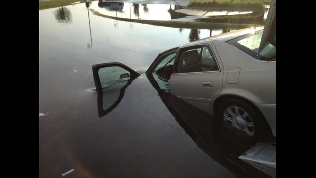 Car submerged 2