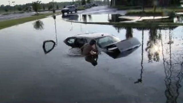 Car submerged 3