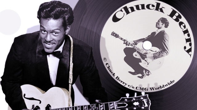 Chuck Berry black and white