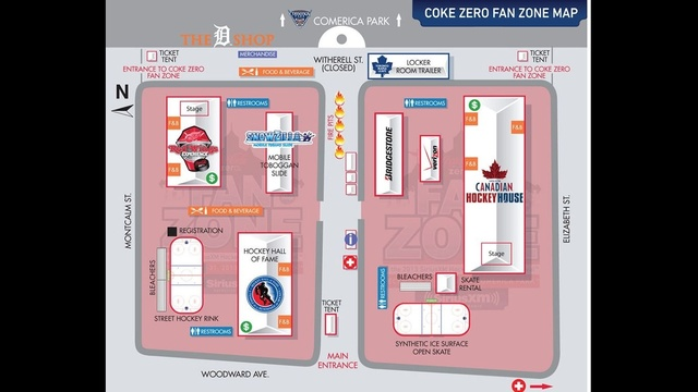 Coke Zero fan zone map