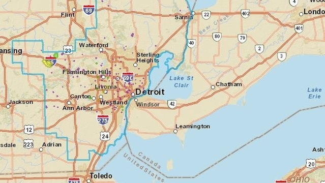 DTE Energy power outages map