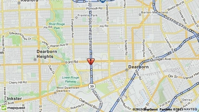 Dearborn crash map