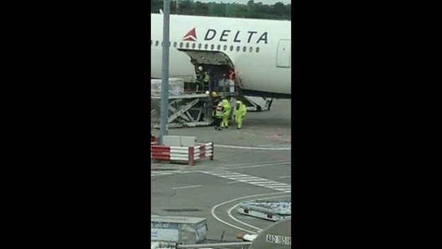 Delta flight 143 scene