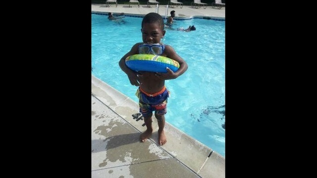 Deshawn White in pool