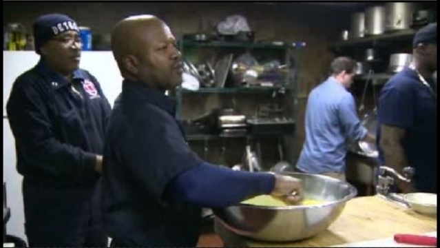 Detroit firefighters cook for family
