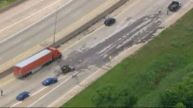 Dirt spills on I75 in Melvindale