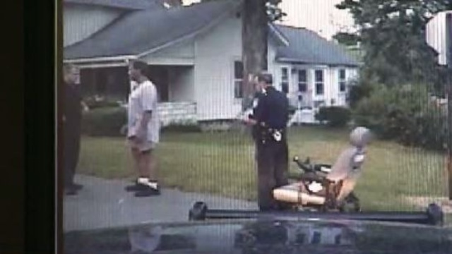 Drunk wheelchair driver arrest