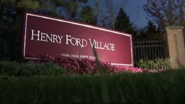 Henry Ford Village Dearborn sign