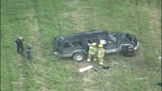 A passenger in an SUV was killed Friday morning when the vehicle rolled over on an I-94 ramp in Harrison Township around 3 a.m.