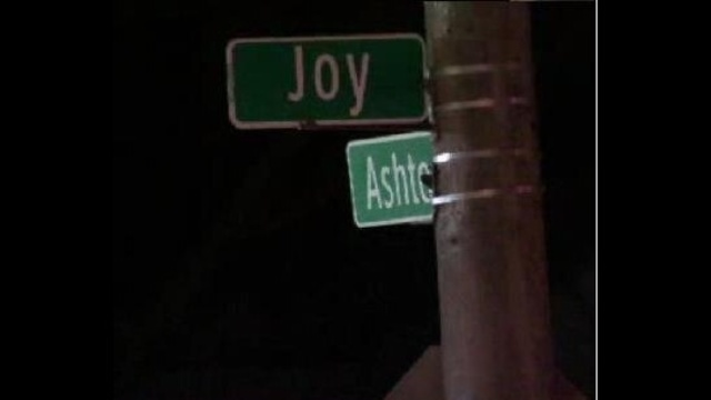 Corner of Joy and Ashton in Detroit