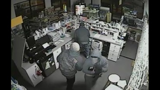 Images from West Village Pharmacy break in