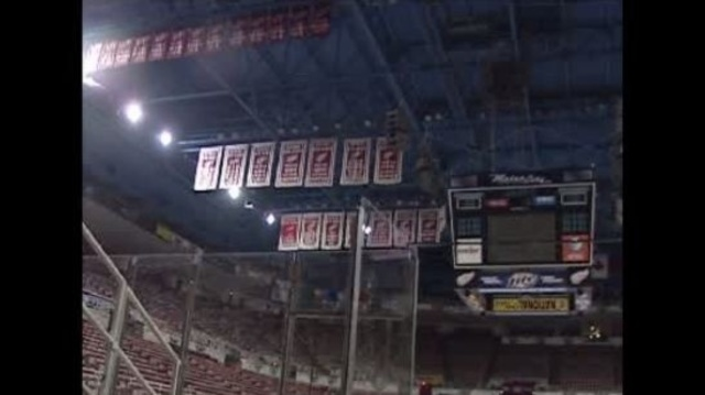 Joe Louis Arena rafters