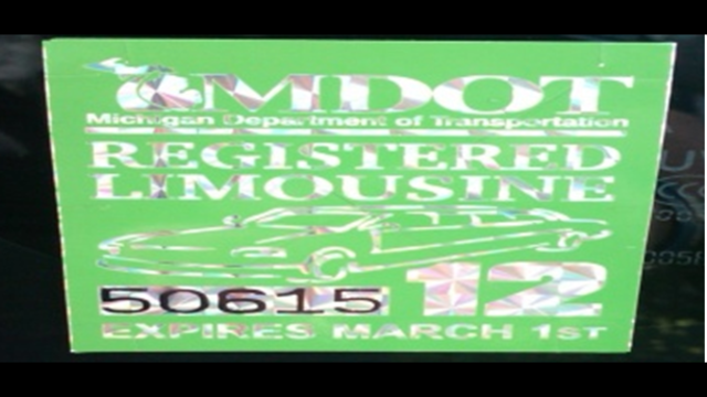 Limousines MDOT tag