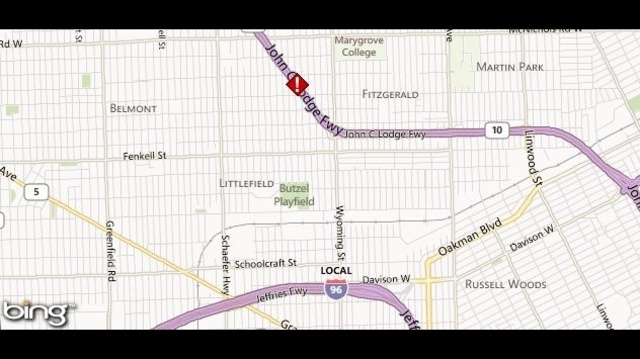 Lodge freeway crash map