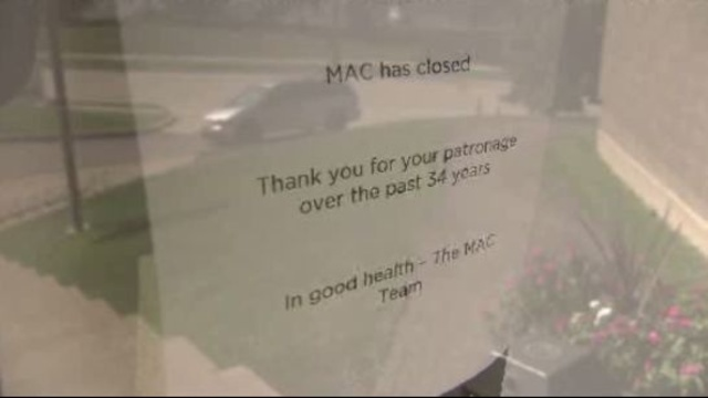 Madison Athletic Club is closed sign
