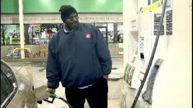Man getting gas