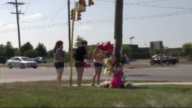 Memorial at Canton Township crash site