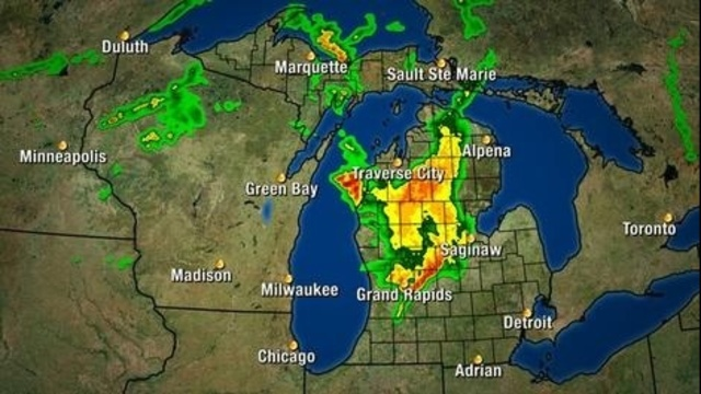 Michigan radar Monday