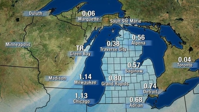 Michigan rainfall