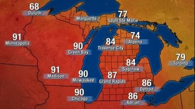 Michigan temperatures