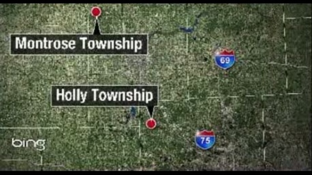 Missing Troy man Patrick Mikes map Montrose Holly townships
