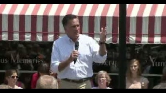 Mitt Romney in Lansing Michigan