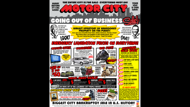 Motor City sale sign