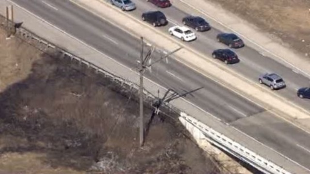 Power lines down M59 2