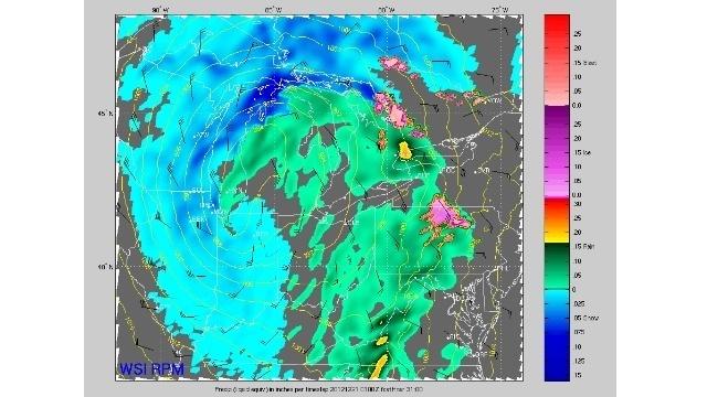 Radar snow image Michigan 2