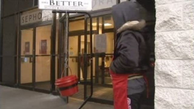 Salvation Army Red Kettle stolen in Wayne 1