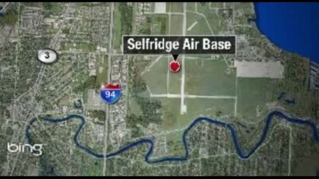 Selfridge Air Base map