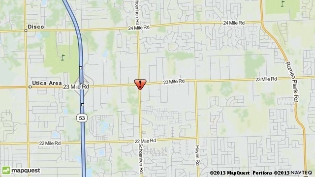 Shelby Township industrial accident map