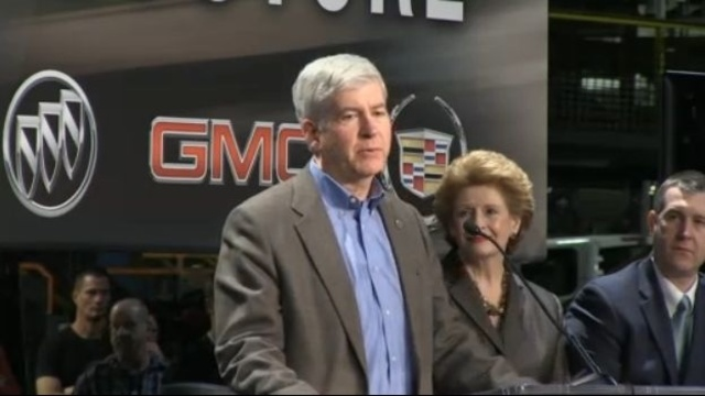 Snyder at GM announcement