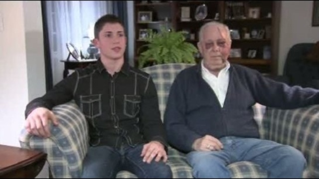 Teen saves grandfather