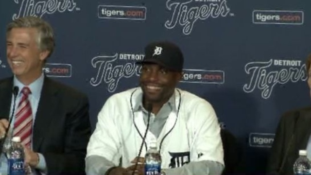Torii Hunter with Detroit Tigers