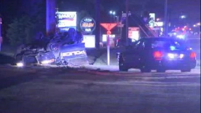 Troy police rollover1
