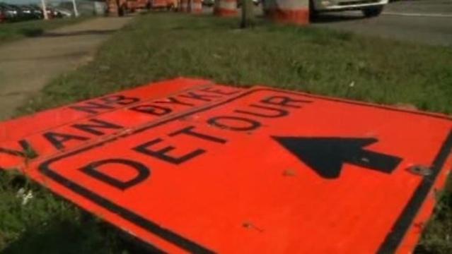 Van Dyke at I-696 in Macomb County closure 2
