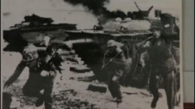 WWII veteran Glenn Barnhart in war