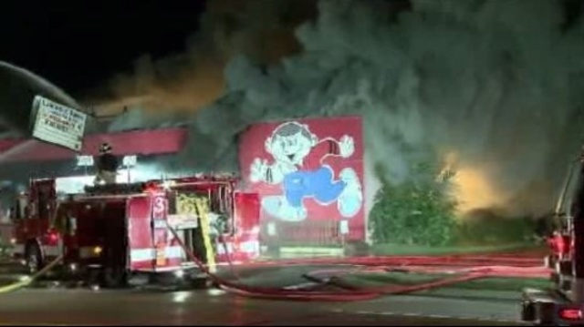 Waterford Township bowling alley fire 2