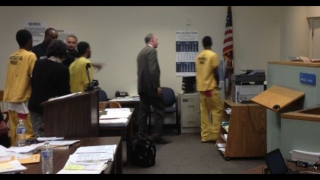 The three suspects in the carjacking of pastor Marvin Winans leaving court