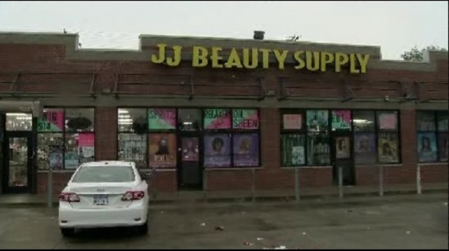 beauty store break in sign
