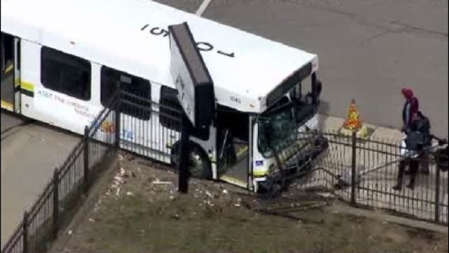 Bus crash in Detroit