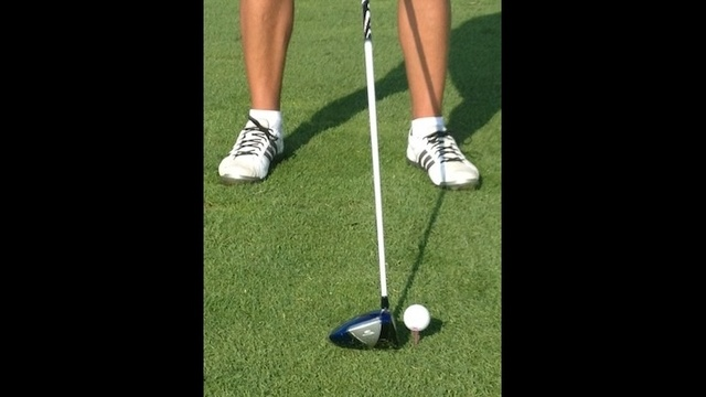 golf ball position image 1