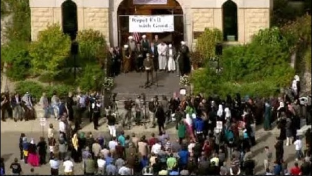hate rally at Islamic Center