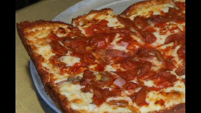Loui's Pizza Ham and Mushroom