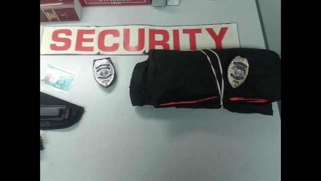 security items found on Coleman