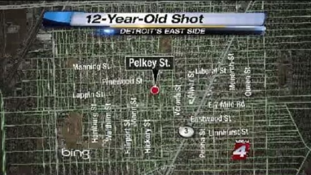 12-year-old shot on Detroit's east side